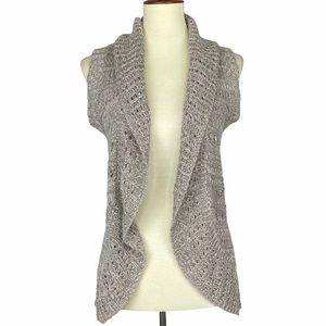 Sonoma Oatmeal Sleeveless Knit Sweater Vest Small